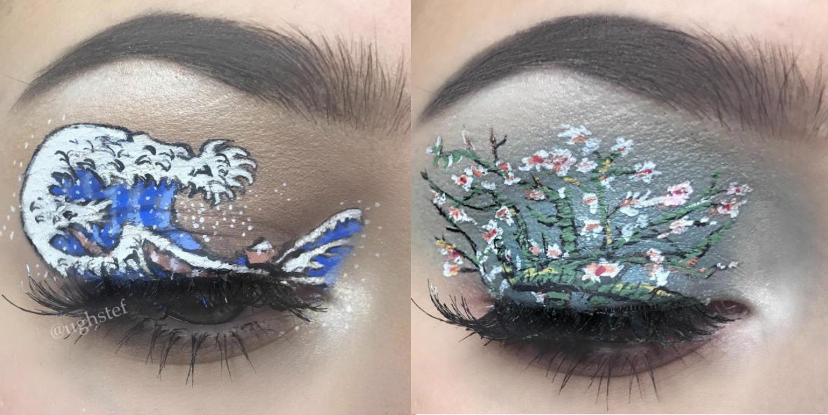 quadri-famosi-make-up-artistico-by-stefania-atupe-hokusai-van-gogh