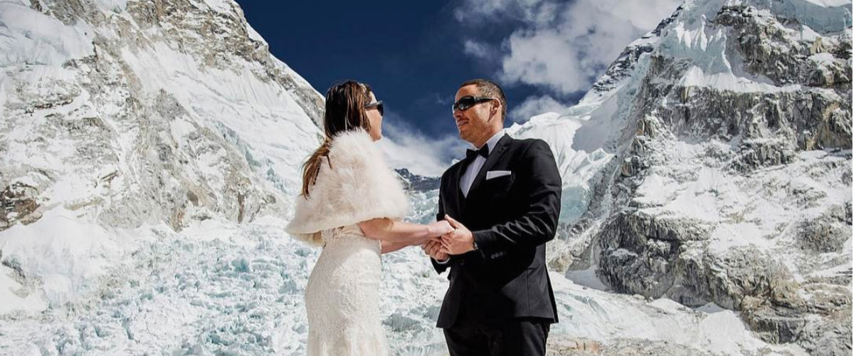 Matrimonio In Alta Quota : Matrimonio ad alta quota sul monte everest