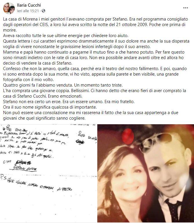 Stefano Cucchi: venduta la sua casa a una giovane coppia