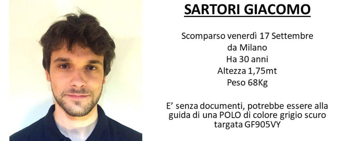 Giacomo Sartori, scomparso da 5 giorni. Aperto un profilo Facebook