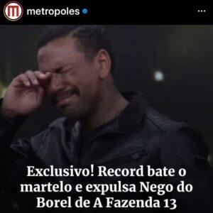 Dayane Mello e Nego Do Borel: emessa la sentenza contro il concorrente accusato di stupro