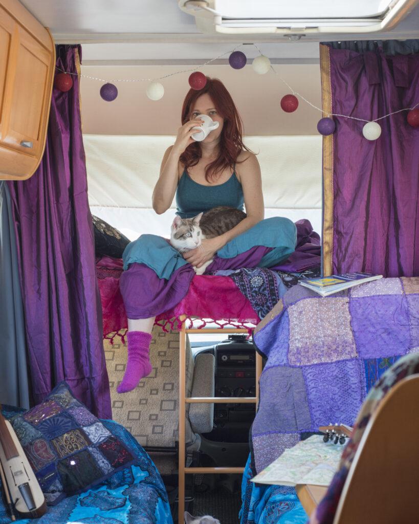 Camper Diem è il progetto artistico di Nathalie tra libertà, natura e viaggio